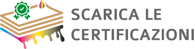 Certificazioni: carta e inchiostri certificati - TovagliettePersonalizzate.com